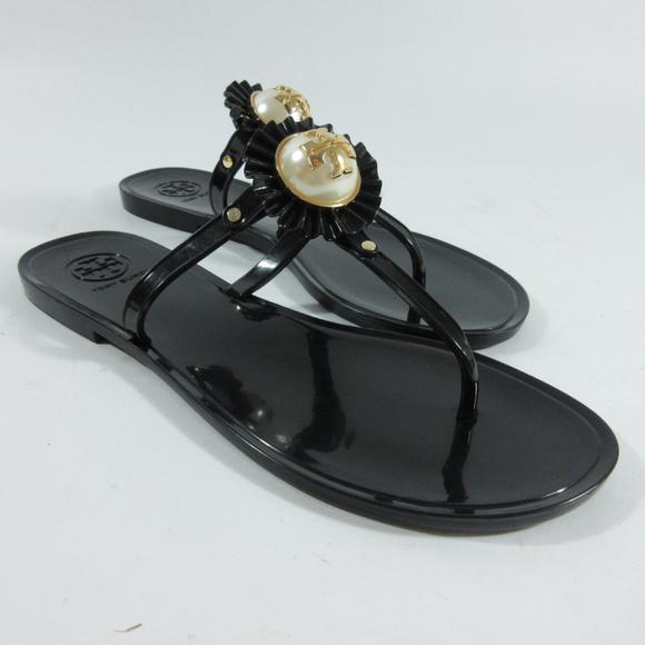 8e22b2a9391 Tory Burch Melody Pearl Jelly Thong Sandals. M 5b3d6646de6f62ca261e7d0a